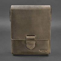 Мужская кожаная сумка-мессенджер Esquire темно-коричневая BlankNote арт. BN-BAG-18-o