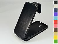 Откидной чехол из натуральной кожи для Alcatel 6030D OneTouch Idol