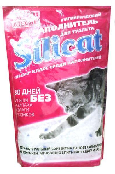 Наполнитель для кошачьего туалета Silicat, 3.8л