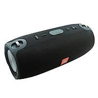 Портативная Bluetooth колонка JBL Xtreme mini — реплика чёрного цвета. Ремень с карабинами