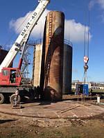 Демонтаж технологического оборудования на резервуаре нефтепродуктов