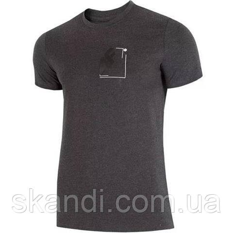 Футболка мужская 4F темно-серый меланж H4L19 TSM003 23M