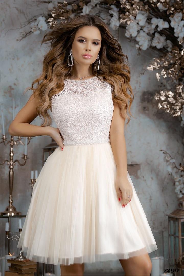 Платье нарядное, гипюр, сетка  42,44,46