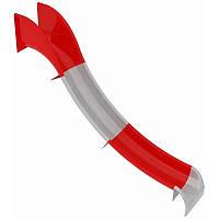 Горка пластиковая бело-красная секционная, фото 1