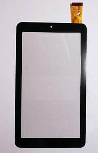 Cенсор (Тачскрин) для планшета GoClever Quantum 2 700 Lite   TQ2700L (184x104mm) 30pin (Черный) Оригинал Китай