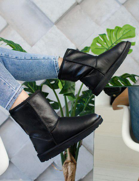 Модные черные женские угги UGG Originals