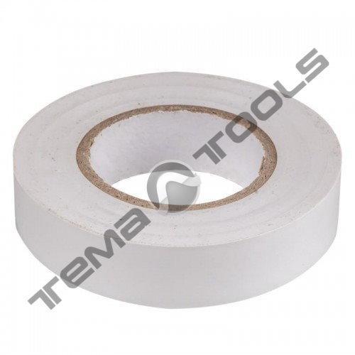 Изоляционная лента (изолента ПВХ) 20 м белая RUGBY PVC