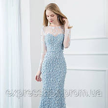Голубое вечернее платье трансформер. Выпускное платье. Вечірня сукня трансформер. Платье ручной работы
