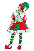 «Рождественская Эльфийка» карнавальный костюм для аниматора, фото 1