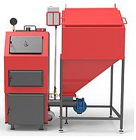 РЕТРА-4М ДУО 25 кВт Котел Твердотопливный Пелетный с Бункером и Автоматической Подачей Топлива