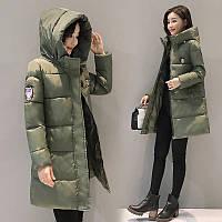 """Женская зимняя куртка  """"ITALIA"""" с капюшоном р.42-44, фото 1"""