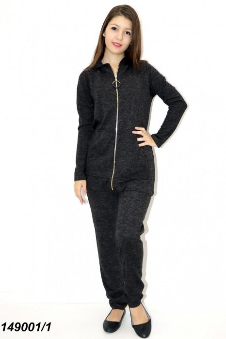 Женский черный спортивный костюм теплый 42 44 46 48