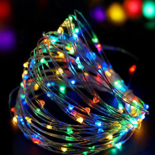 Новогодние гирлянды | Гирлянды | Медная проволочная лампа 100LED 10м БП 5В 220V (СП) RGB RD-7110
