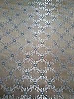 Джаккард мебельная ткань королевский с шелковой нитью ширина 150 см сублимация синий кружок