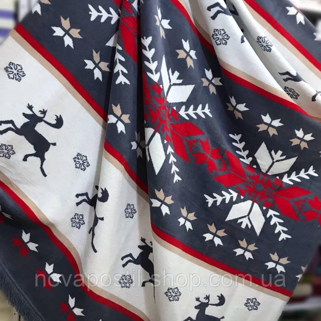 Плед новогодний 200х240 см 16105A Art of Sultana (Турция)