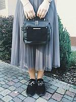 Сумка-чемоданчик на длинном ремешке Камелия М181-33/замш