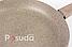 Сковорода Биол Оптима-Декор с антипригарным покрытием и крышкой 26 см 26047ПС, фото 8