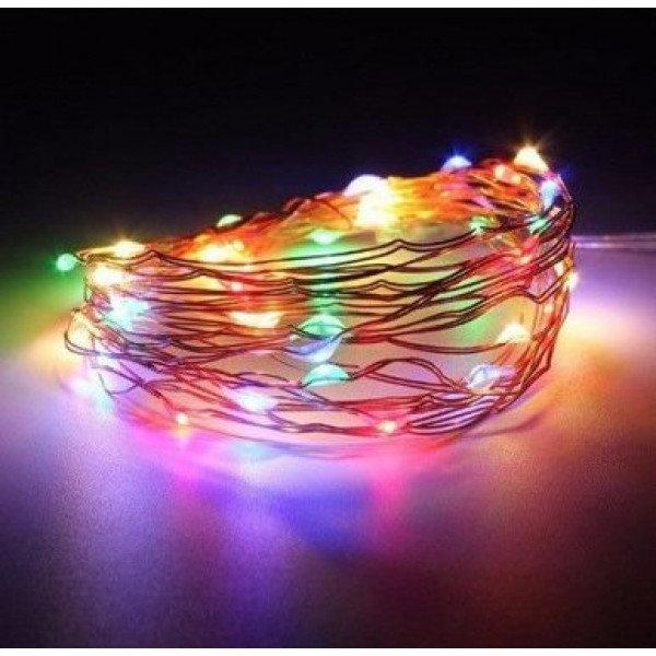 Новогодние гирлянды   Гирлянды   Медный провод 100м с подсветкой, (ЧП) USB (СП) RGB RD-7112