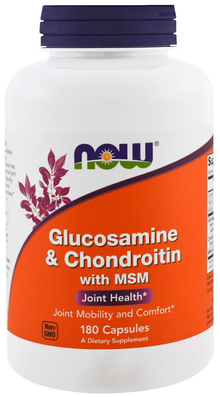 Хондропротектор Now Foods - Glucosamine Chondroitin MSM (180 капсул)