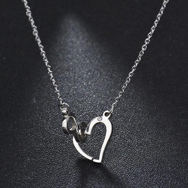 Подвеска от Tiffany - Бесконечная любовь (Серебристый с белым)