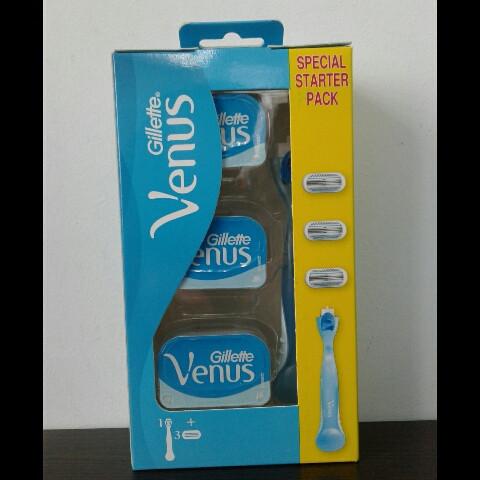 Набор для бритья женский Gillette Venus 3 (Станок + 3 картриджа)
