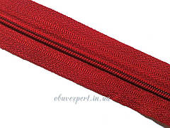Блискавка рулонна спіраль № 3, кол. червоний