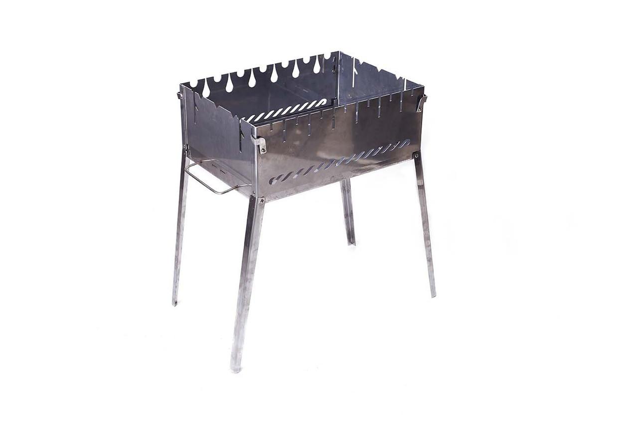 Раскладной мангал чемодан для пикника на 6 шампуров из нержавеющей стали