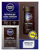 Подарочный набор Nivea Men Ultra (гель для душа - 75% + лосьон после бритья)
