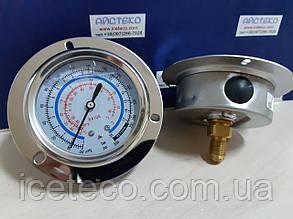 Манометр глицериновый низкого давления  R-410а для панельного крепления