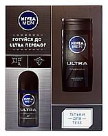 Подарочный набор Nivea Men Ultra (гель для душа + антиперспирант ролл)