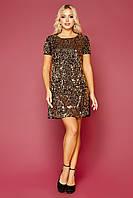Золотистое платье Ираида, S, M, L, XL
