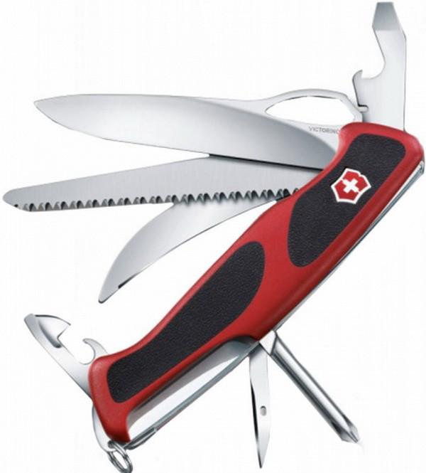 Нож складной, мультитул Victorinox Rangergrip 57 Hunter One Hand (130мм, 13 функций) 0.9583.MC