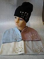 Весенняя вязанная шапочка