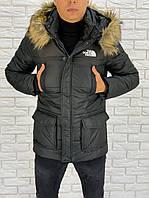 "Теплая мужская куртка на синтепоне ""THE NORTH FACE"" с капюшоном"