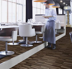 Ковролин флокированное покрытие Flotex vision naturals 010018 linear walnut для кафе и ресторанов