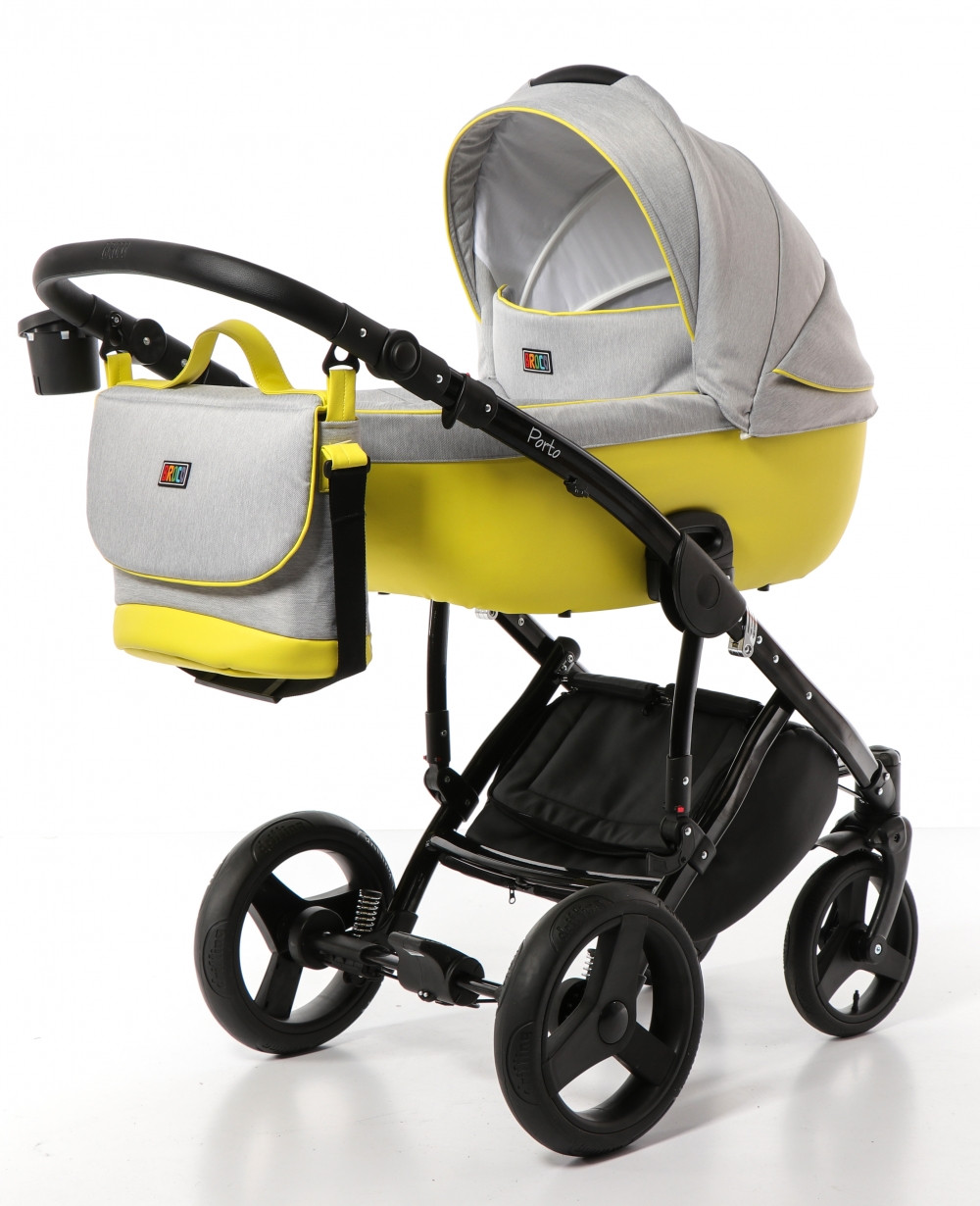 Коляска Broco Porto 01 желтый/серый 2в1