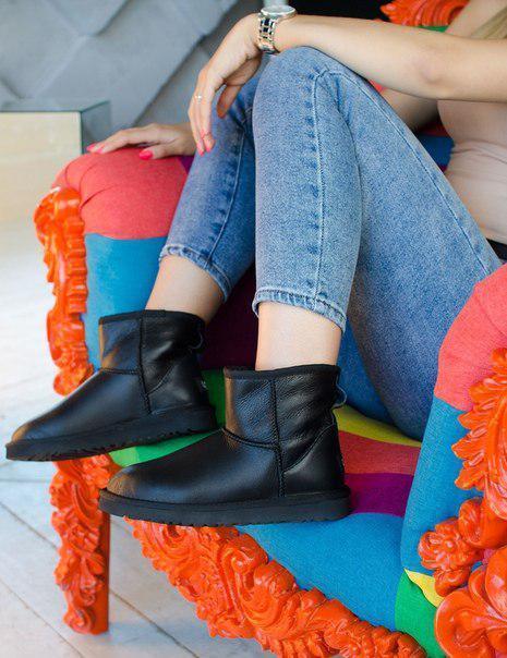 Модные кожаные женские угги UGG Originals