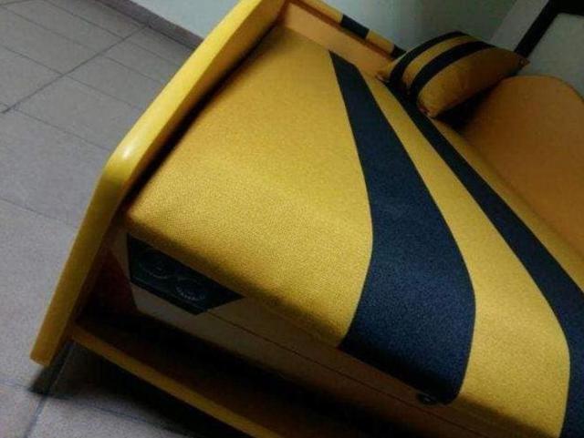 Кровать детская машина серии Elit Е-3 Lamborghini yellow (Фото 4)
