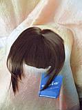 Челка накладная на защелках (клипсах) русая 10-028-10, фото 3