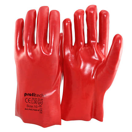 Перчатки защитные PROFITECH маслобензостойкие 35см, фото 2
