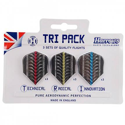 Набор оперений для дротиков дартс Tri Pack Harrows 9 штук, фото 2
