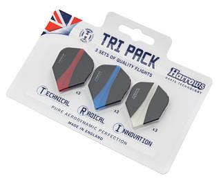 Набор оперений для дротиков дартс Tri Pack Harrows 9 штук