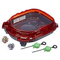 Оригінальний ігровий набір Арена Бейблейд Турбо Слингшок BeyBlade Burst Turbo Rail Rush Battle Set E3629