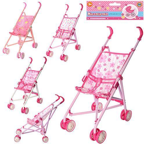 Кукольная коляска прогулочная 51-50-22см