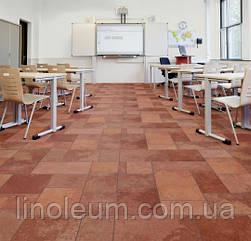 Ковролін флокіроване покриття Flotex vision naturals 010022 terracotta slate для шкіл та університетів