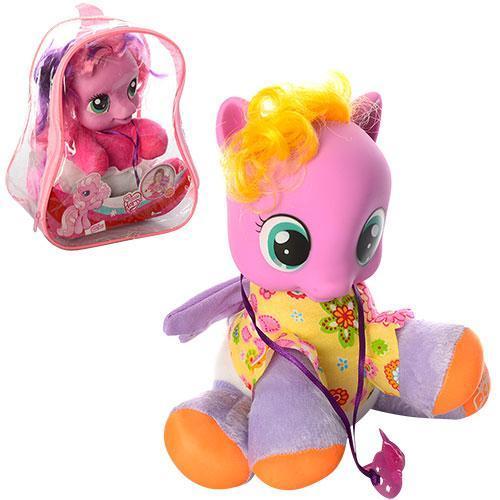 Игрушка лошадка мягконабивная в рюкзаке на батарейке My Little Pony
