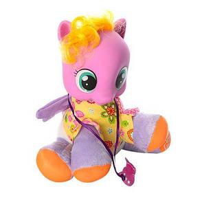 Игрушка лошадка мягконабивная в рюкзаке на батарейке My Little Pony, фото 2