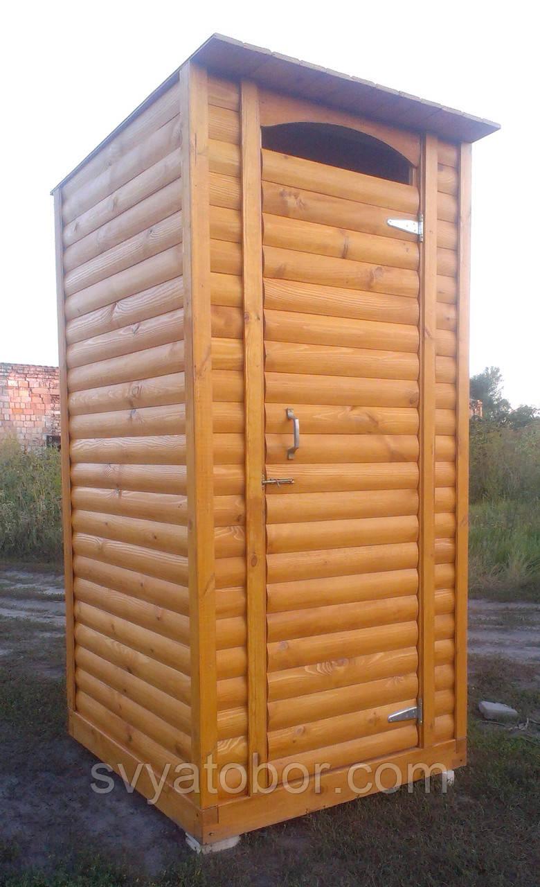 Почтой - Туалет деревянный из блок-хауса - В разобранном виде