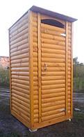Туалет деревянный из блок-хауса, фото 1