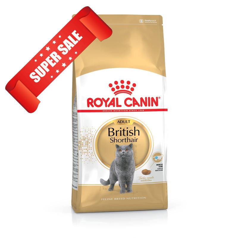 Сухой корм для котов Royal Canin British Shorthair Adult 2 кг + 3 пауча